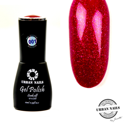 Colorful Crystal limited Gel Polish Collectie 001 Rood