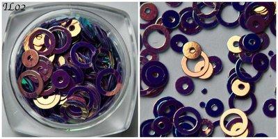 Inlay Line 02 hologram paars