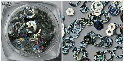 Inlay Line 03 hologram zilver