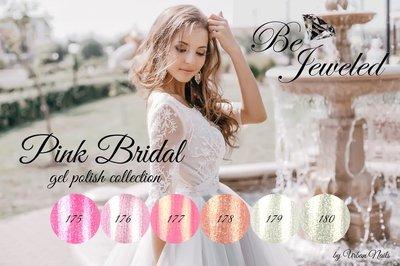 "Pink ""Bridal"" Gelpolish Collection Be jeweld Urban Nails"