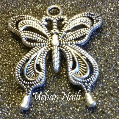 Zilveren bijhanger Vlinder