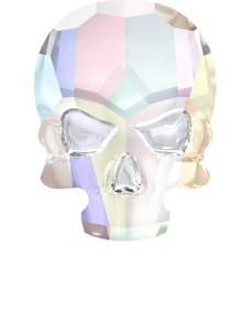 Swarovski Skull Crystal AB ( 2 Stück )