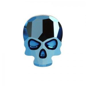 Swarovski Skull Metallic Blue( 2 Stück )