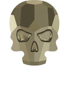 Swarovski Skull Metallic Light Gold ( 2 Stück )